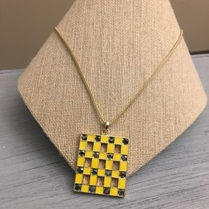 Cookie Lee Yellow Criss Cross Necklace